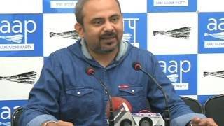 Aap Delhi Convenor Dilip Pandey Briefs Media on new additional director of CBI
