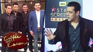 Salman Khan OPENS On Koffee With Karan 5 Episode With Arbaaz & Sohail