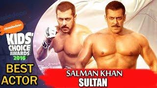 Salman Khan - BEST ACTOR 2016 Sultan Kids Choice Awards