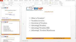 Teradata Dev   DBA   Introduction Session