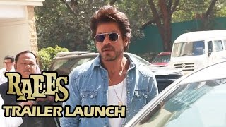 RAEES Trailer Launch: Shahrukh Khan's GRAND ENTRY - Miyan Bhai Ki ENTRY