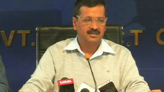 Delhi CM Arvind Kejriwal briefs media on the cabinet decision on salary increment of guest teachers
