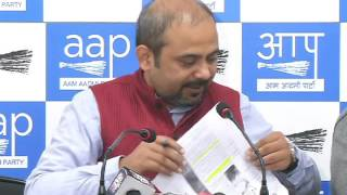 Aap Leader Dilip Pandey Briefs media on  Black listed company supplying paper for new note