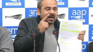 Aap leader Dilip Pandey Briefs Media says Finance Minister Lied to nation
