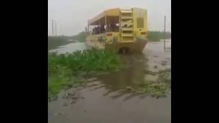 badal ki paani waali bus launched gayi bus paani mein in punjab - bus on water