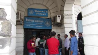 Long queues at banks, ATMs after long weekend