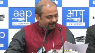 Aap Delhi Convenor Dilip Pandey briefs on how BJP has made black money into white