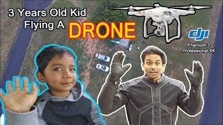 SID, 3 Year old Boy & I, Flying a Drone DJI Phantom. VLog.