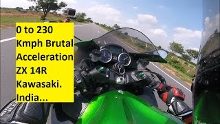 0 to 230 Kmph Brutal Acceleration ZX 14R Kawasaki. India, Hyderabad.