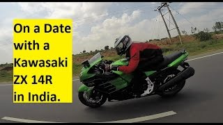 On a Date with a ZX 14R Kawasaki in India, Hyderabad.