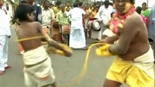 Devotees celebrate 350-year-old traditional whipping festival