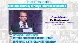 Presentation by : Mr. Hasyim Asyari, Commissioner, General Election Commission of Indonesia