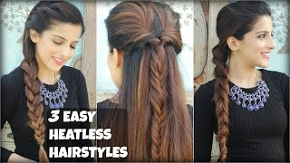 Watch 3 Easy Boho Hairstyles For Medium Hair With Clip I Video