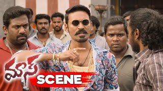Dhanush Warns Police Officer Vijay Yesudas - Action Scene - Maari Movie Scenes