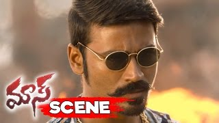 Dhanush Attacks Vijay And Mime Gopi - Climax Action Scene - Maari Movie Scenes
