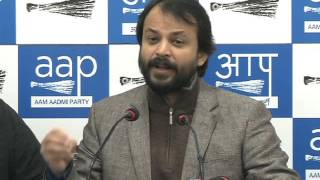 Aap leader Press Brief on PM modi should make All Parties Cashless