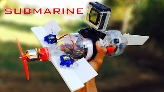 How to Make a SUBMARINE with WATERPROOF CAMERA  at home | SUBMARINE