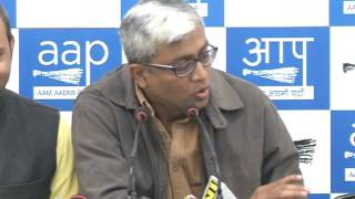 Aap Leader's Brief Media on the issue of Demonetisation