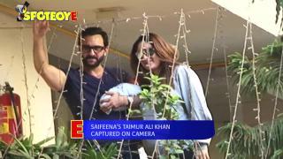 Saifeena's First Appearance with Baby Taimur Ali Khan Pataudi | SpotboyE