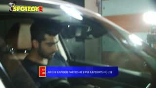 Arjun Kapoor Parties at Ekta Kapoor's House | SpotboyE