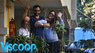 Kareena & Saif's First Public Appearance With Son Taimur Ali Khan Pataudi #Vscoop