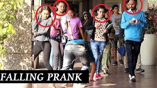 Awkward FALLING In MALL Prank (prank on HOT GIRLS) Pranks in India 2016