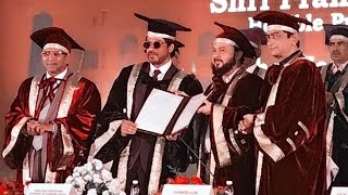 Shahrukh Khan AWARDED With Honorary Doctorate by Maulana Azad National Urdu University
