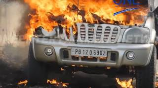 live video chalti scorpio mein lagi aag bhatije ne bachaayi chacha ki jaan live fire