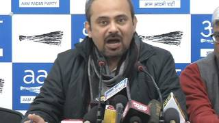 Aap Leader Dilip Pandey Briefs Media on False Allegations Put by opposition on AAP Donation