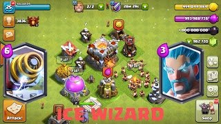 Clash Of Clans Freeze Trap vs Ice Wizard Gameplay | COC Private Server 2017
