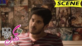 Dulquer Salmaan Fools Aju Varghese To Publishes Nithya Photo -Comedy - 100 Days Of Love Movie Scenes