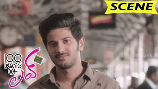 Dulquer Salmaan Funny Intro - Tells About Love Breakup - 100 Days Of Love Movie Scenes