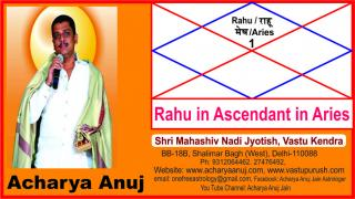 Astrology Course Part � 8, Rahu in Ascendant in Aries sign.