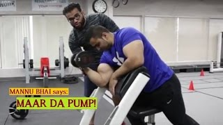 How to: Alternate Preacher Curl with DUMBELL for MASSIVE ARMS! (Hindi  / Punjabi)