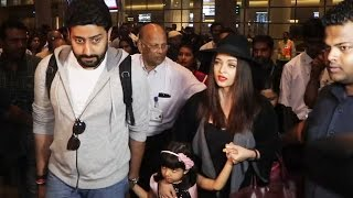 Aishwarya, Abhishek And Aaradhya SPOTTED At Airport, Returns After New Year Celebration In Dubai