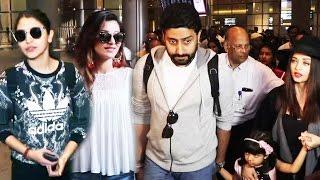 Bollywood Celebs Spotted At Airport - Aishwarya Rai, Anushka Sharma, Urvashi Rautela, Abhishek