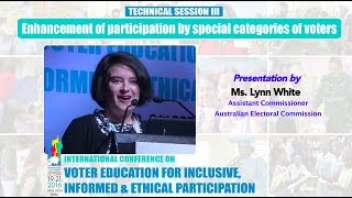 Presentation by : Lynn White, Assistant Commissioner Australian Electoral Commission