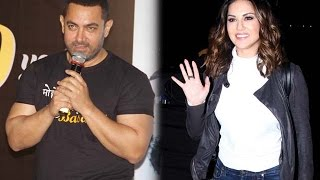 Aamir khan is interested in Sunny leone - Aamir khan about sunny performence