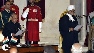 Justice J. S. Khehar takes oath as 44th Chief Justice of India