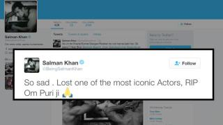Finally Salman reacts on his Tubelight co-star Om Puri's Death