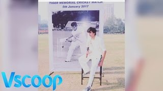Ibrahim Ali Khan Poses With Grandpa Tiger Pataudi #Vscoop