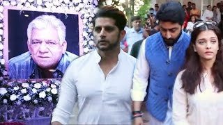 Bollywood Celebs At Om Puri's PRAYER Meet - Aishwarya Rai, Abhishek Bachchan & More