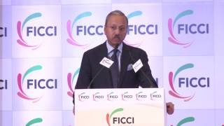 Mr Harshpati Singhania welcoming panelists at FICCI's 89th AGM