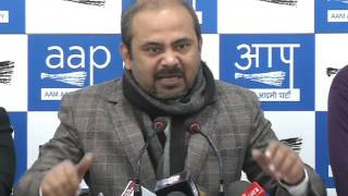 Aap Delhi Convener Briefs Media on BJP Has Functionally & Financially Collapsed the MCD