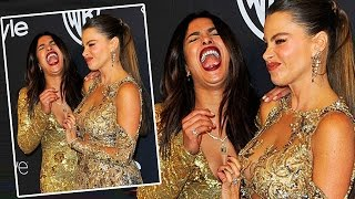 Priyanka Chopra B**B's Pinched By Sofia Vergara At The Golden Globe Awards