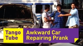 Awkward Car Repairing Prank (Funniest reactions)