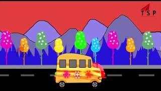 Wheels On The Bus Kids Rhymes | Educational Nursery Rhymes For Childrens |TSP Kids Rhymes