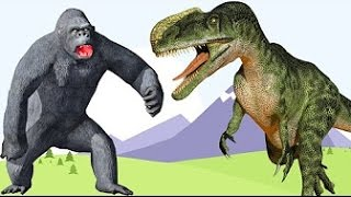 Crocodile VS Gorilla Fight | Rhymes For Childerns | Animal Fights for Childerens || TSP Kids Rhymes
