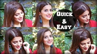 6 Different Ways To Part Your Hair For School, College, Work / Quick & Easy Everyday Hairstyles