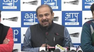 Aap Delhi Convener Dilip pandey Briefs on the MCD issue